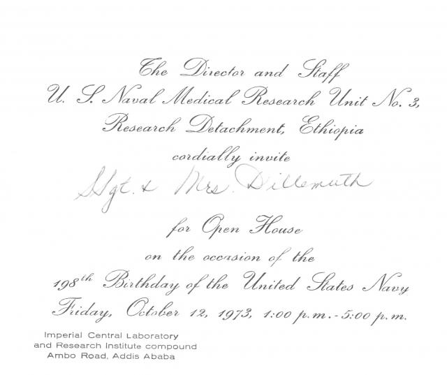 1973 invitation extended by navy command to ncoic and mrs 1973 invitation extended by navy command to ncoic and mrs dillemuth addis ababa ethiopia stopboris Gallery